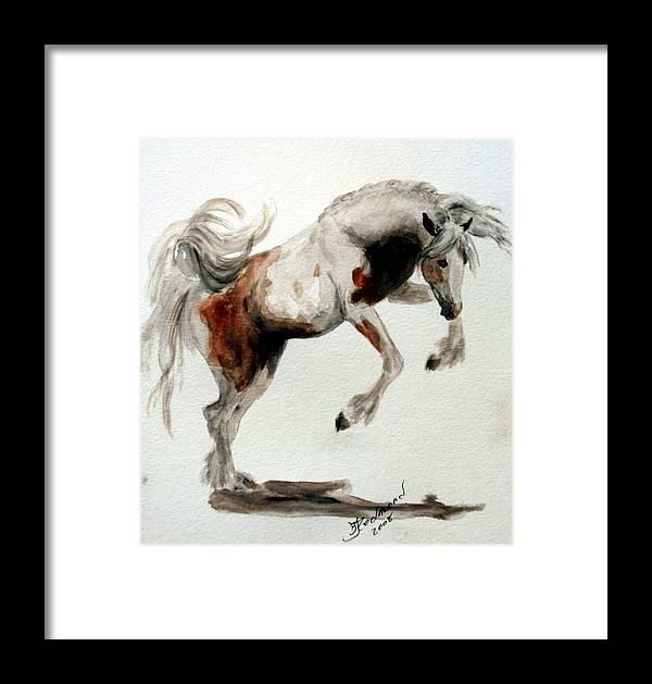 Horse Gypsy Vanner Framed Print featuring the painting Jubilant Gypsy by BJ Redmond