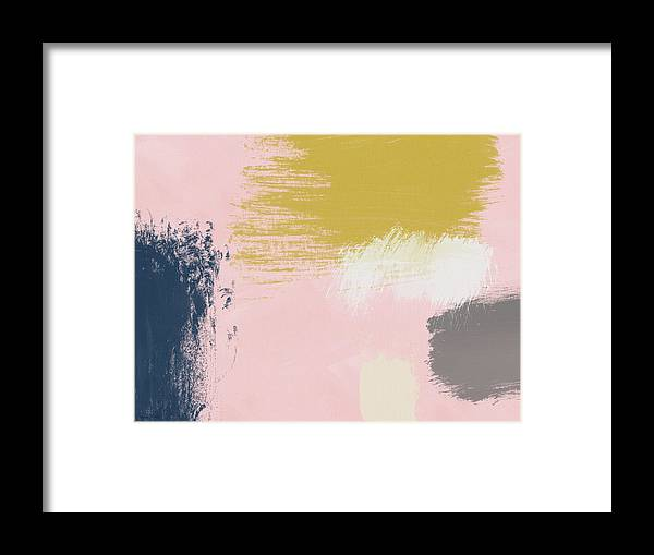 Abstract Framed Print featuring the painting Jubilee Mix 3- Abstract Art By Linda Woods by Linda Woods