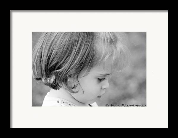 Framed Print featuring the photograph Julie 3 by Lisa Johnston