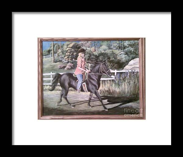 Portraiture Framed Print featuring the painting Julie And Shane by Carol Wisniewski