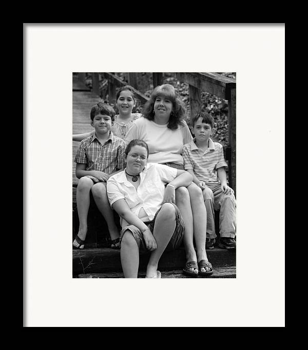 Framed Print featuring the photograph Julie's Family by Lisa Johnston