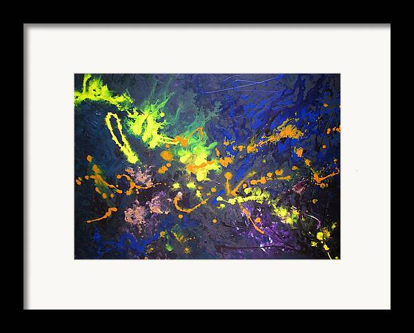 Blue Framed Print featuring the painting Juliet by Jess Thorsen