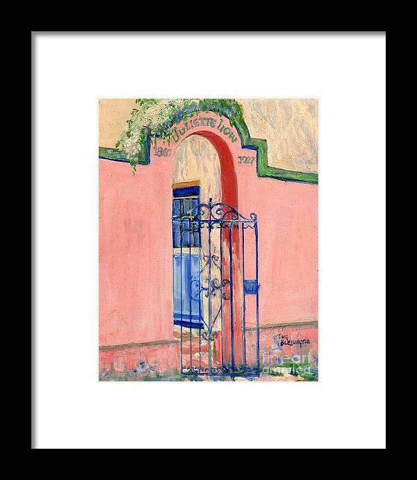 Girl Scout Headquarters Framed Print featuring the painting Juliette Low Garden Gate Savannah by Doris Blessington