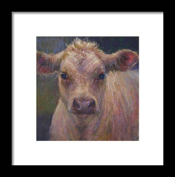 Cows Framed Print featuring the painting Julius by Susan Williamson
