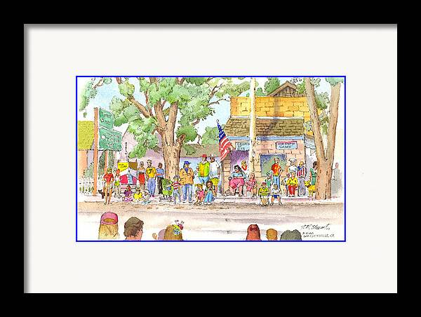 Fourth Of July Framed Print featuring the painting July 4th 2000 by John Norman Stewart