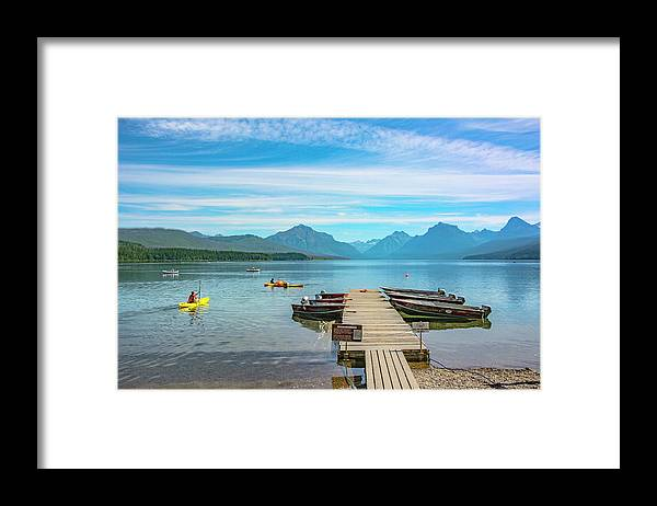 Montana Framed Print featuring the photograph July 4th on Lake McDonald by Bryan Spellman
