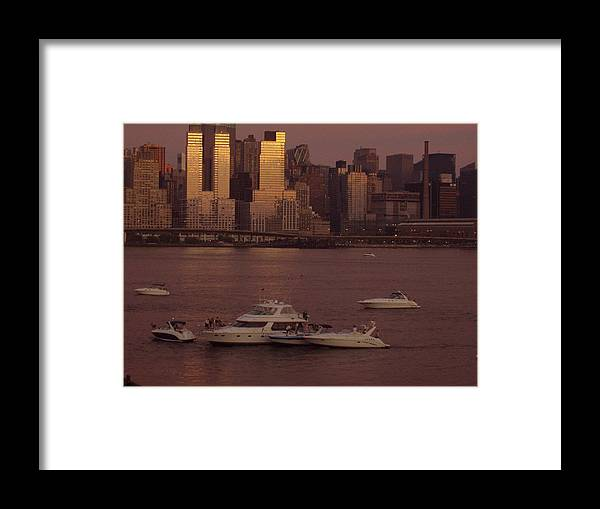 Hudson River Framed Print featuring the photograph July 4th On The Hudson by Wendy Uvino