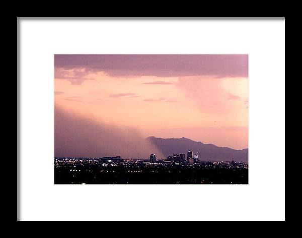 Arizona Framed Print featuring the photograph July Dust by Cathy Franklin