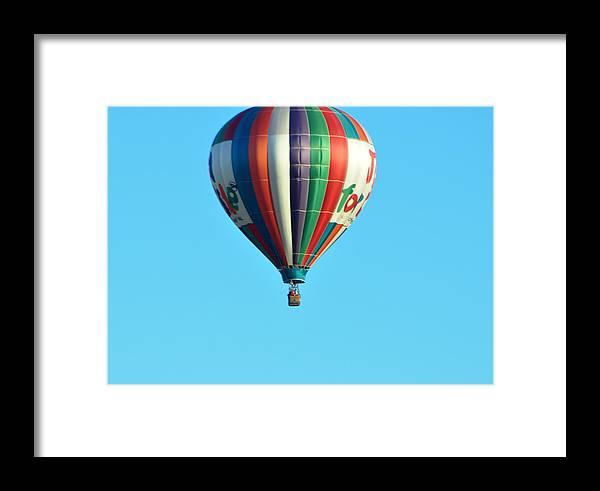 Hot Air Balloons Framed Print featuring the photograph Jump For Joy by Jan Amiss Photography