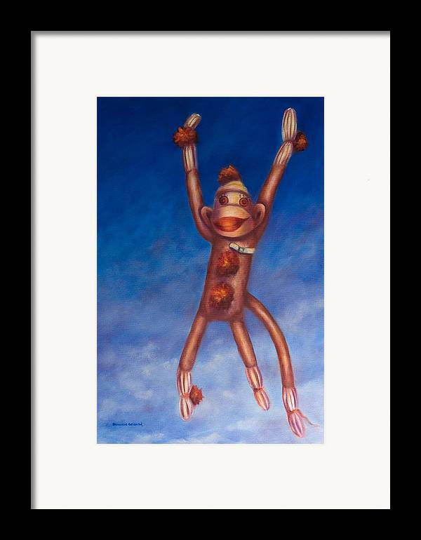 Children Framed Print featuring the painting Jump For Joy by Shannon Grissom