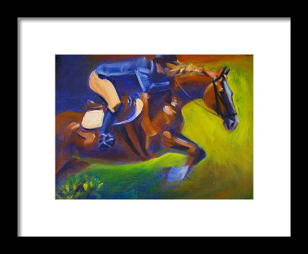Horse Framed Print featuring the painting Jumper 2 by Kaytee Esser