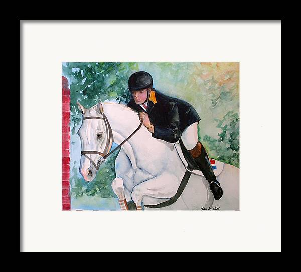 Equine Framed Print featuring the painting Jumper by Gina Hall