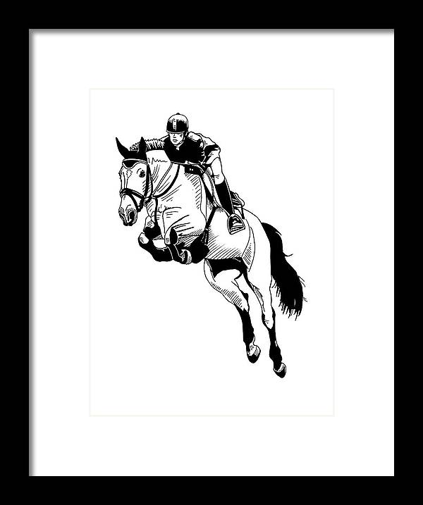 Jumping Framed Print featuring the digital art Jumping by Dalek Popok