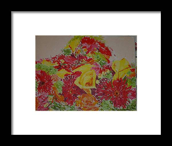Acrylic Framed Print featuring the painting June Bouquet by Raymond Nash