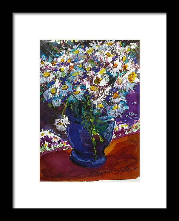 Daisies Framed Print featuring the painting June Daisies by Doranne Alden