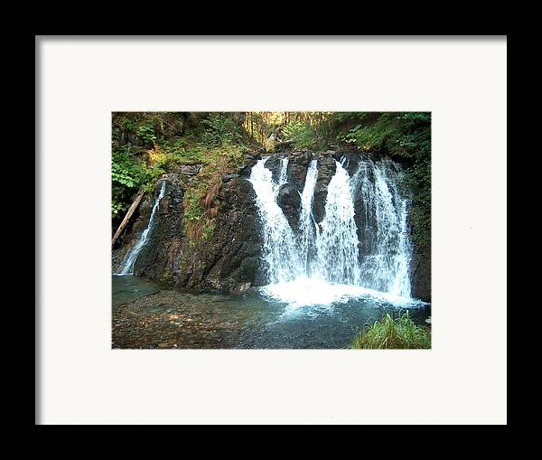 Waterfall Framed Print featuring the photograph Juneau Waterfall by Janet Hall
