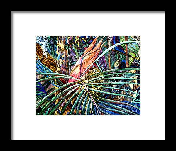 Palm Framed Print featuring the painting Jungle Fever by Mindy Newman