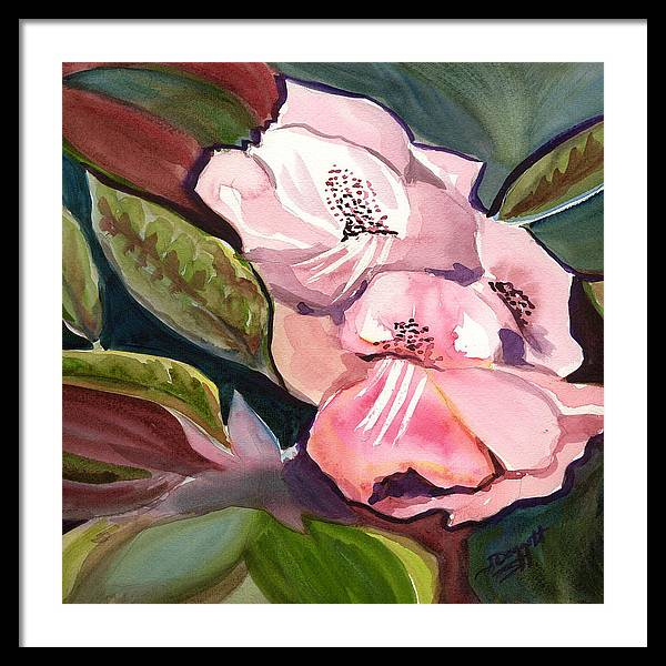 Floral Framed Print featuring the painting Jungle Floral by Janet Doggett