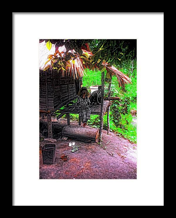 Couple Framed Print featuring the photograph Jungle Life by Steve Harrington