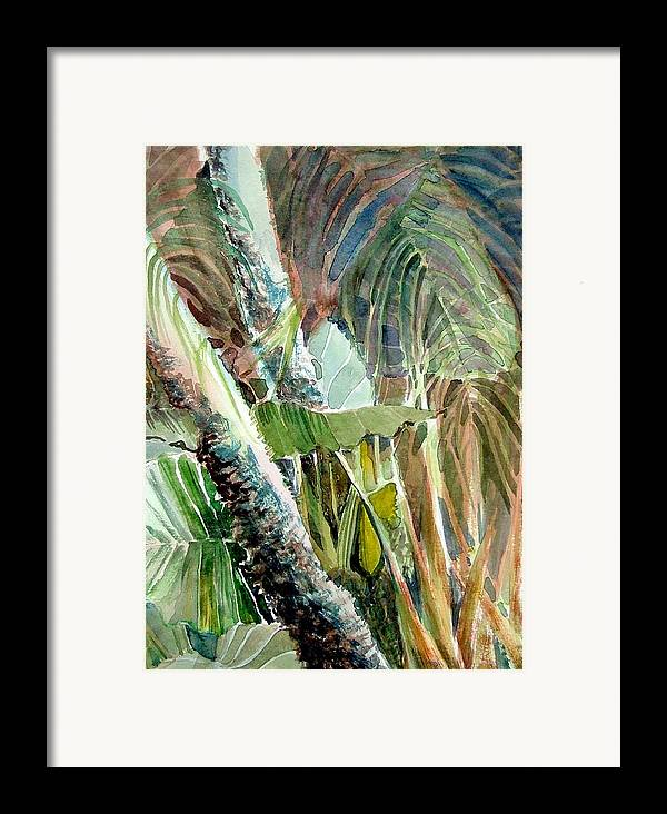 Palm Tree Framed Print featuring the painting Jungle Light by Mindy Newman