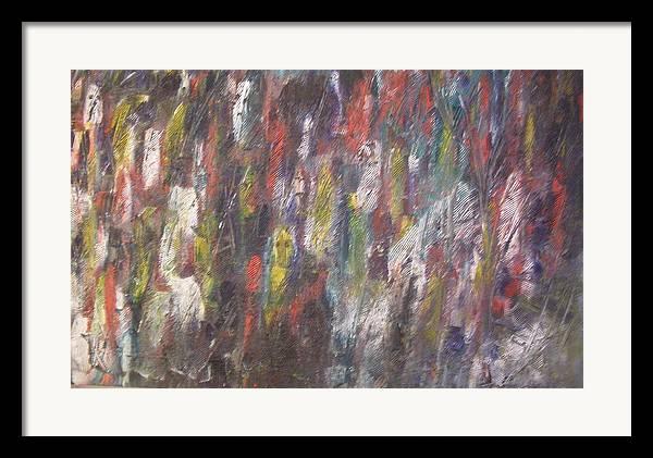 Abstract Framed Print featuring the painting Jungle Spirits by Don Phillips