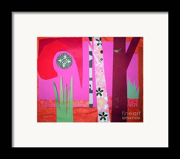 Landscape Framed Print featuring the mixed media Jungle Temple by Debra Bretton Robinson