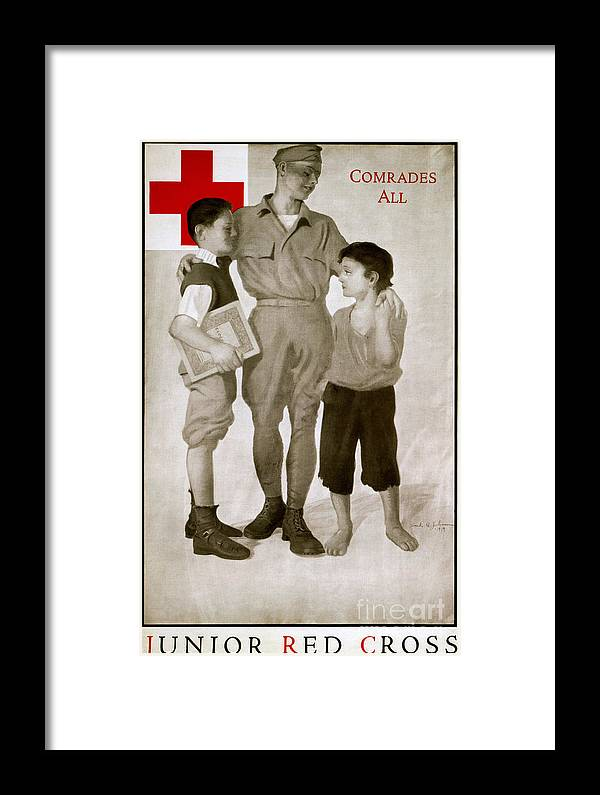 1919 Framed Print featuring the photograph Junior Red Cross Poster by Granger