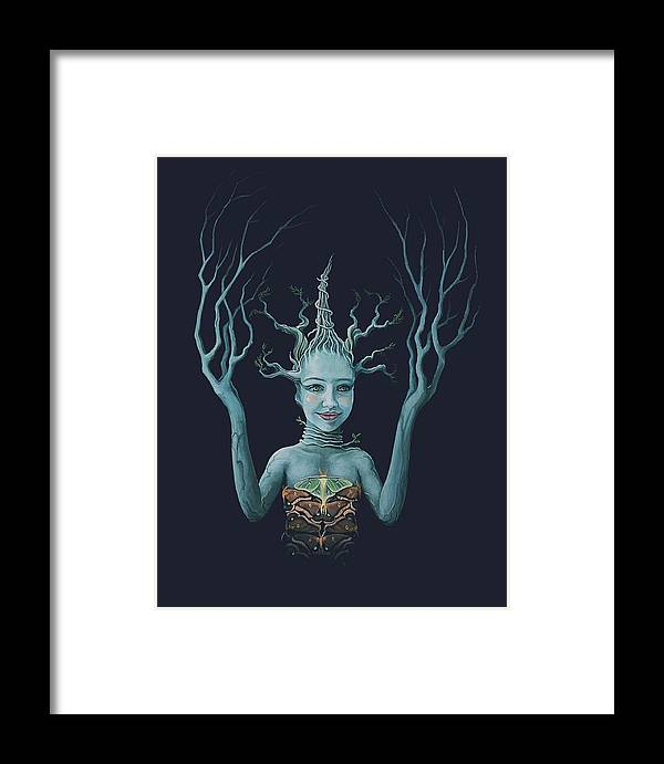 Night Framed Print featuring the painting Juniper by Boris Koodrin