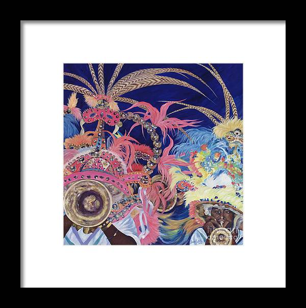 Bahamas Framed Print featuring the painting Junkanoo by Danielle Perry