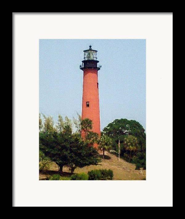 Landscape Photographs Framed Print featuring the photograph Jupiter Inlet Lighthouse by Frederic Kohli