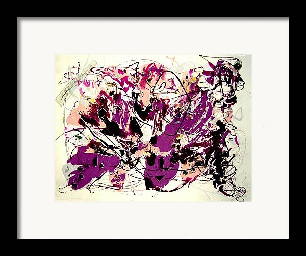 Abstract Framed Print featuring the painting Jupiter by Irma Hinghofer-Szalkay