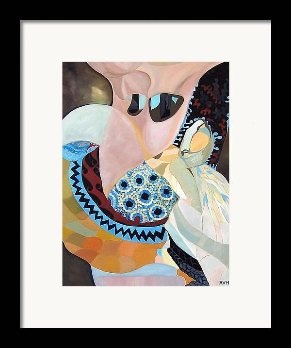 Figyrative Framed Print featuring the painting Jurney by Antoaneta Melnikova- Hillman