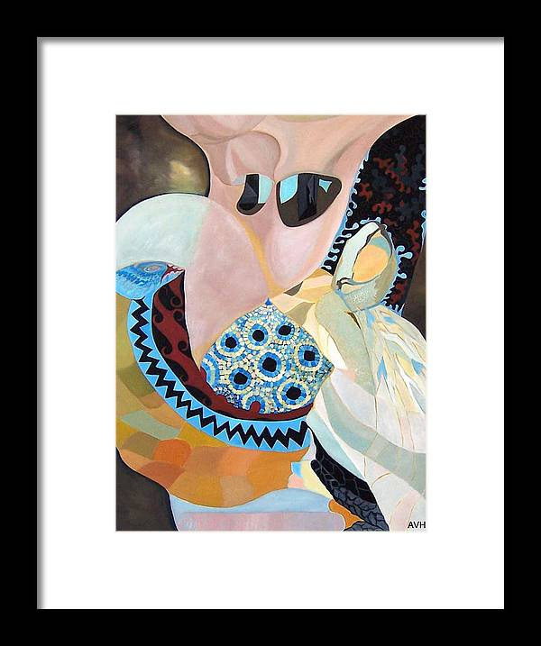 Figyrative Framed Print featuring the painting Jurney by Antoaneta Melnikova- Hillman