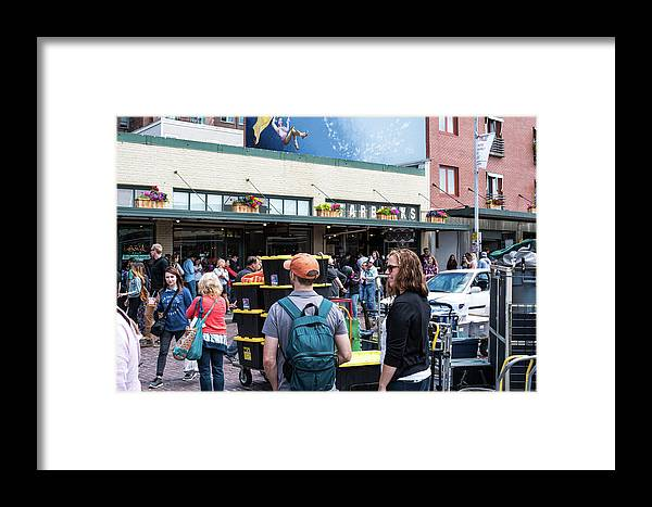 Traffic Framed Print featuring the photograph Just A Cuppa by Tom Cochran