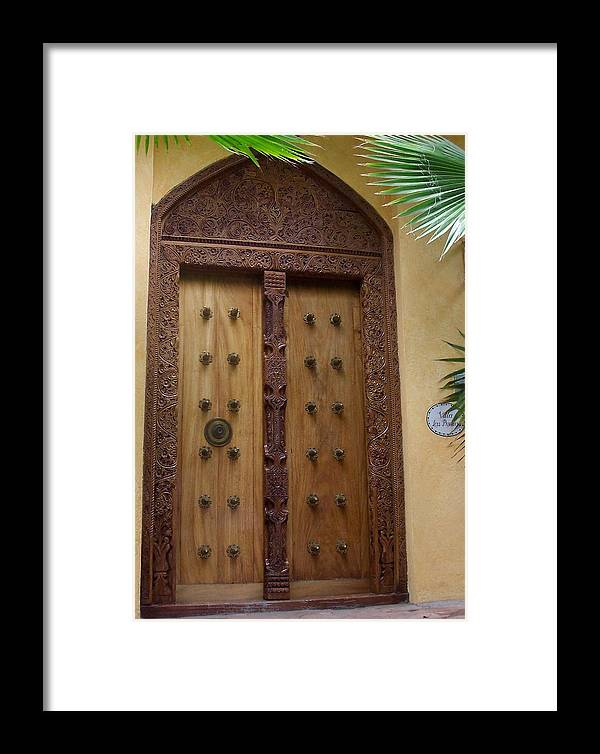 Door Framed Print featuring the photograph Just A Door by James Johnstone