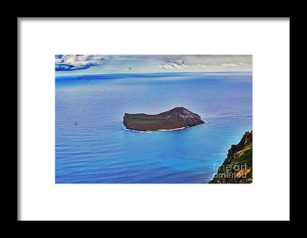 Framed Print featuring the photograph Just An Island Away by Biz Bzar