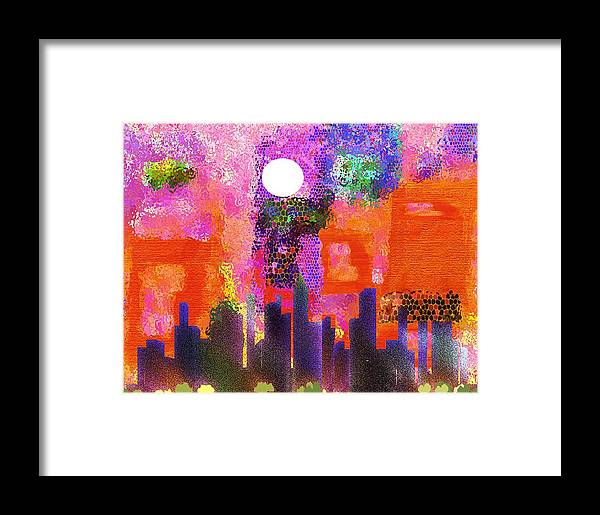 Cityscape Framed Print featuring the mixed media Just Another Day by Mimo Krouzian