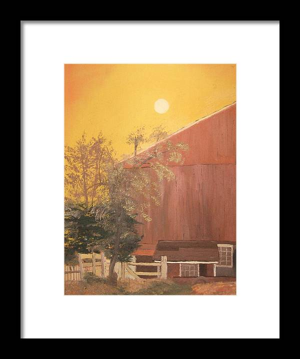Landscape Framed Print featuring the painting Just Another Farm by L A Raven