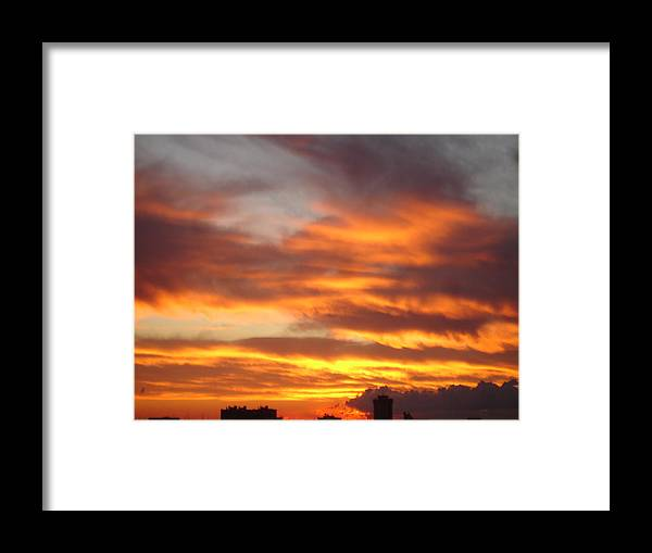 Seascape Framed Print featuring the painting Just Another Friday Morning by Roger Cummiskey