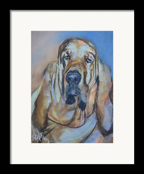 Dog Framed Print featuring the painting Just Another Magic Bloodhound by Debbie Anderson