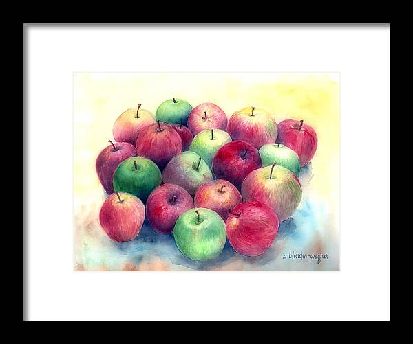 Apple Framed Print featuring the painting Just Apples by Arline Wagner
