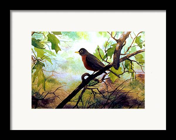 Wild Life Framed Print featuring the painting Just Ate And Cooling Off by Brooke Lyman