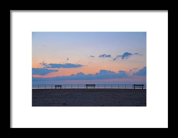 Just Framed Print featuring the photograph Just Before Sunrise In Asbury Park by Bill Cannon