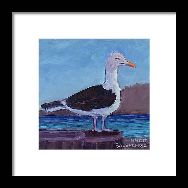 Seagull Painting Framed Print featuring the painting Just Chillin by Esperanza Arato