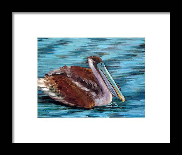 Acrylic Framed Print featuring the painting Just Cruisin by Suzanne McKee