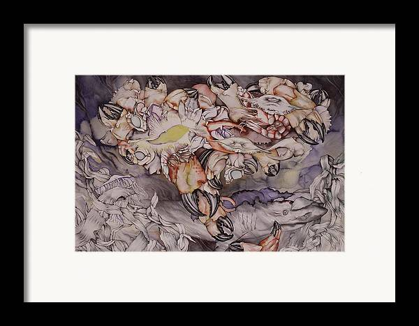 Sea Framed Print featuring the painting Just Dreaming by Liduine Bekman