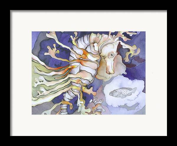 Sealife Framed Print featuring the painting Just Dreaming Too by Liduine Bekman