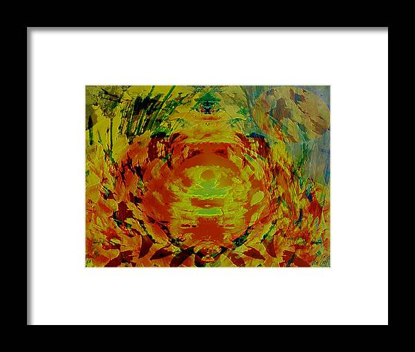 Flowers Framed Print featuring the digital art Just Flowers by Helmut Rottler