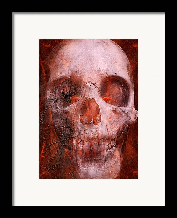 Soul Framed Print featuring the digital art Just Grining by Jean Gugliuzza