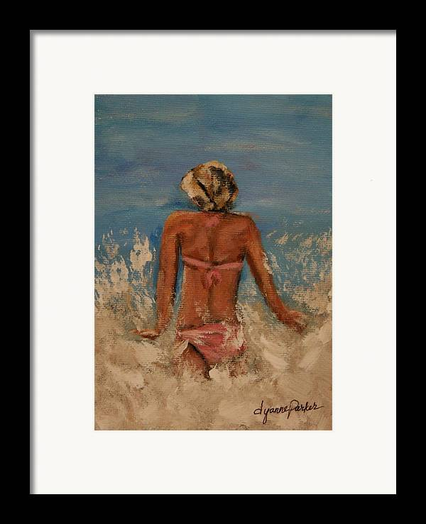 Beach Framed Print featuring the painting Just Keep Swimming by Dyanne Parker
